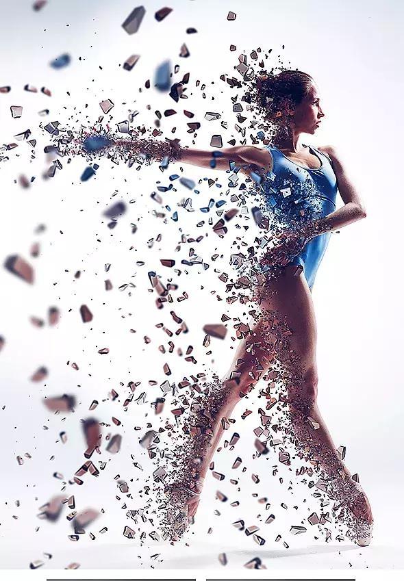 照片特效一键搞定!送你PS碎片粒子飞溅特效插件Photoshop Action