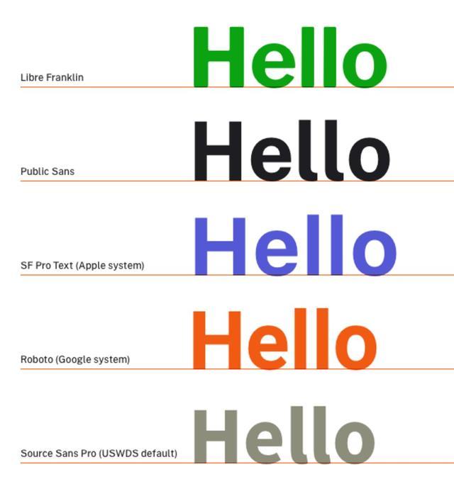 美国政府设计新字体 Public Sans,可以免费下载使用