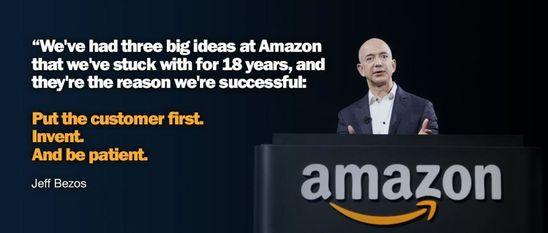 贝索斯所言的'亚马逊的三个坚持:顾客至上、创造、保持耐心'|Wisepop
