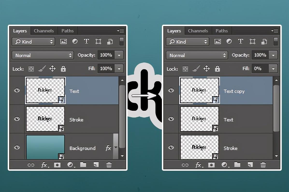 在Photoshop中创建快速简单的3D贴纸文字效果